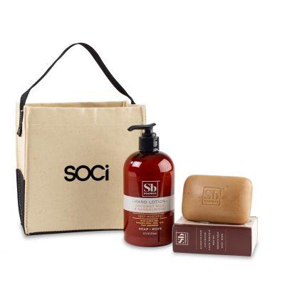 Soapbox® Cleanse & Revive Gift Set - Natural-Coconut Milk & Sandalwood