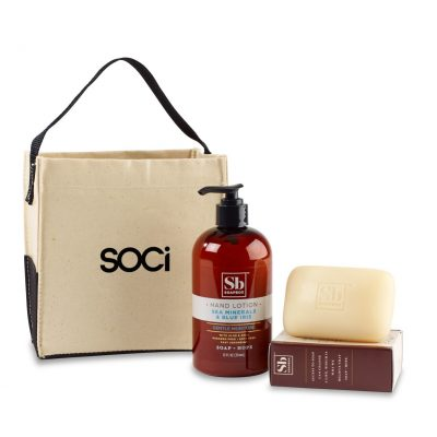 Soapbox® Cleanse & Revive Gift Set - Natural-Sea Minerals & Blue Iris