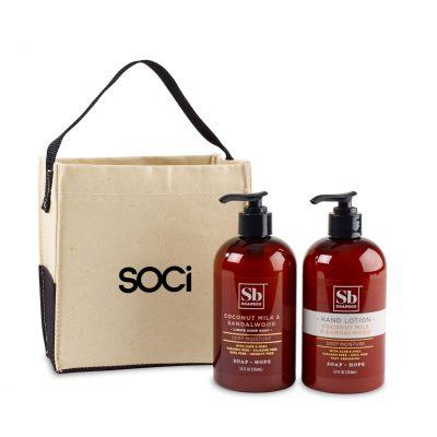 Soapbox® Cleanse & Soothe Gift Set - Natural-Coconut Milk & Sandalwood