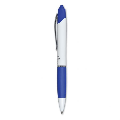 Zebra® Z-Grip Max Retractable Ballpoint White Barrel - Blue-Black Ink