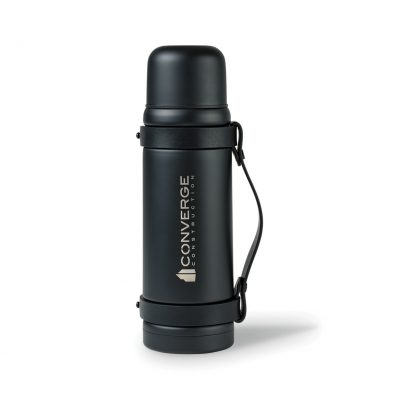 Aviana™ Pinnacle Double Wall Stainless Beverage Bottle - 34 Oz. - Matte Black