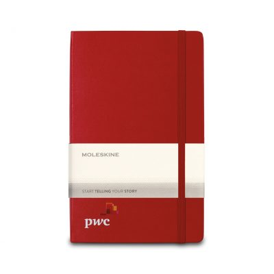 Moleskine® Hard Cover Ruled Large Expanded Notebook - Scarlet Red