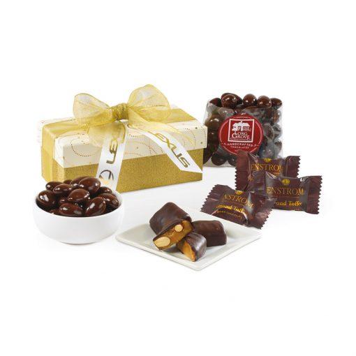 Sparkling Dark Chocolate Gift Box - Sparkling White and Gold