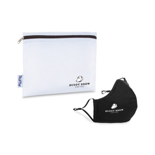 Reusable Face Mask and Storage Pouch Kit - Black