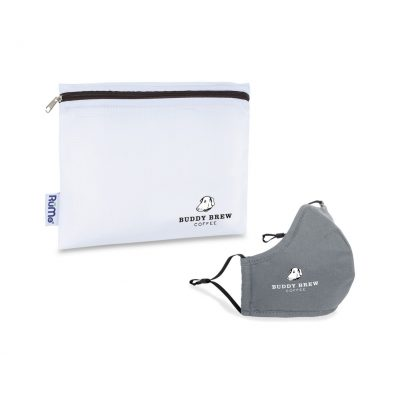 Reusable Face Mask and Storage Pouch Kit - Gunmetal Grey