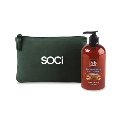 Soapbox™ Healthy Hands Gift Set - Deep Forest Green-Sea Minerals & Blue Iris