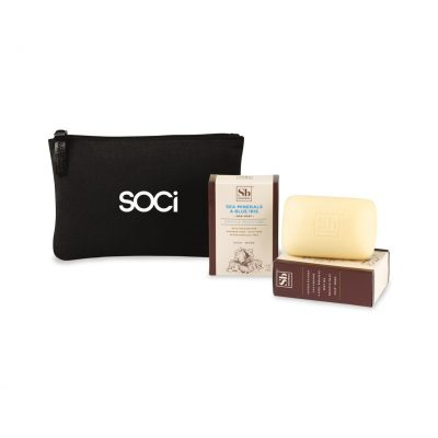 Soapbox™ Nourish & Restore Gift Set - Black-Sea Minerals & Blue Iris