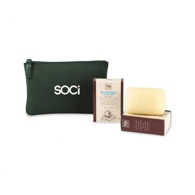 Soapbox™ Nourish & Restore Gift Set - Deep Forest Green-Sea Minerals & Blue Iris