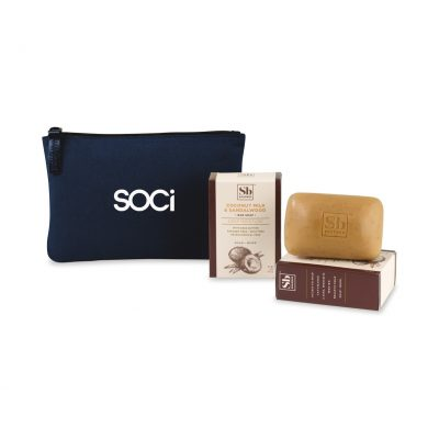 Soapbox™ Nourish & Restore Gift Set - Navy Blue-Coconut Milk & Sandalwood