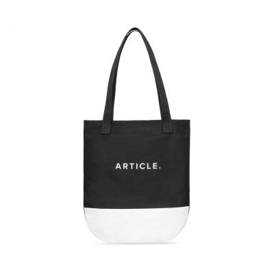 Hudson Cotton Tote - Black