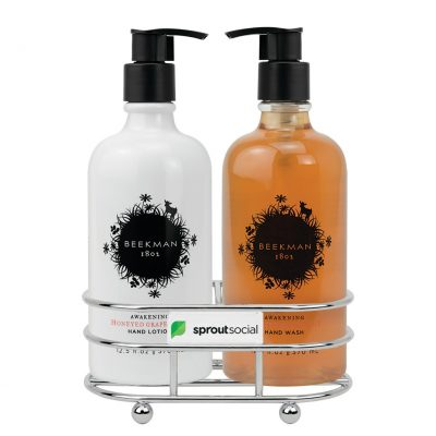 Beekman 1802 Honeyed Grapefruit Soap & Lotion Gift Set - Chrome Plated Metal - Beekman