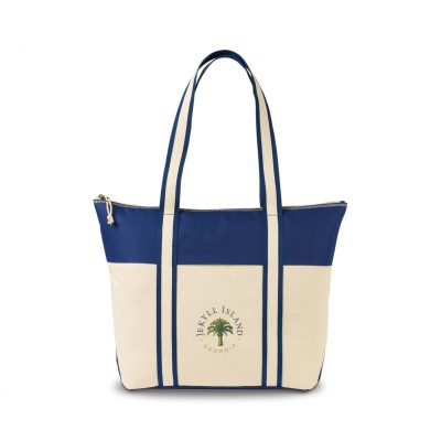 Nantucket Cotton Boat Tote - Navy