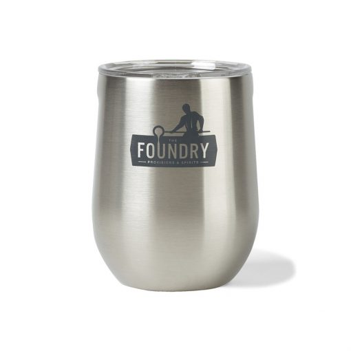 CORKCICLE® Stemless Wine Cup - 12 Oz. - Brushed Steel