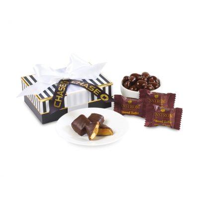 Dark Chocolate Deliciousness Gift Box - Black & White Stripes