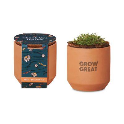 Modern Sprout® Tiny Terracotta Grow Kit Thank You Daisies - Terracotta