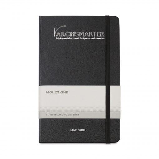 Moleskine® Hard Cover Large Double Layout Notebook - Black
