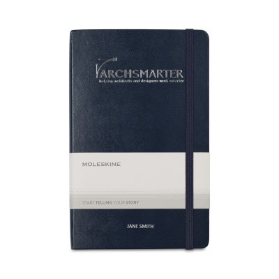 Moleskine® Hard Cover Large Double Layout Notebook - Sapphire Blue