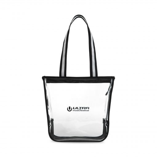 Sigma Clear Zippered Tote - Clear