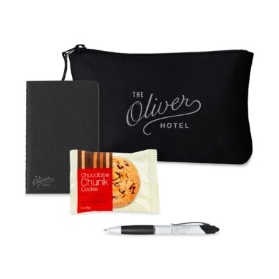 Notes On-the-Go Gift Set with Snack - Black