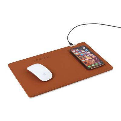 Easton Wireless Charging Mouse Pad - Cognac