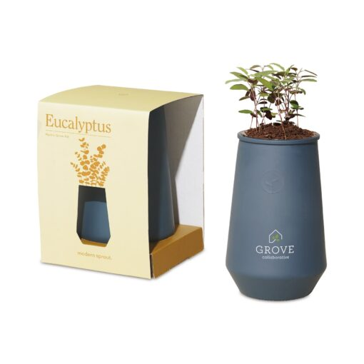 Modern Sprout Tapered Tumbler Grow Kit - Blue Agave-Eucalyptus