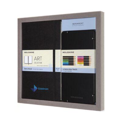 Moleskine® Coloring Kit - Sketchbook and Watercolour Pencils - Black