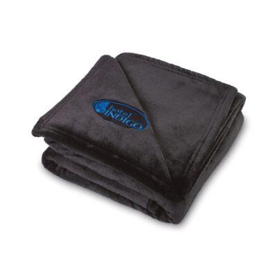 Serenity Plush Throw Blanket - Black