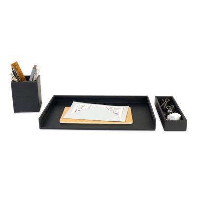 Easton 3 Piece Desktop Organizer Set - Black