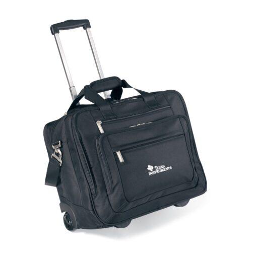 Travis & Wells® Wheeled Ballistic Computer Briefcase - Black